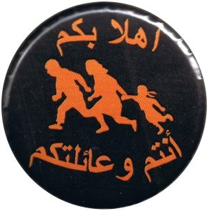 Flüchtlinge willkommen auf Arabisch