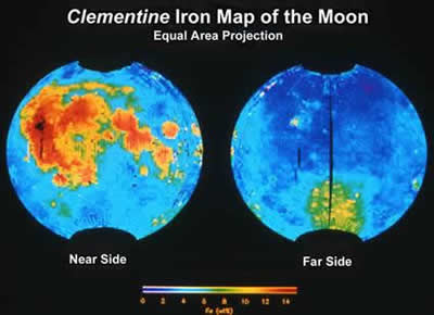 rocks on the moon based on information from the clementine mission ...