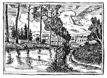 paysage peupliers au bord de la rivière images libres de droit