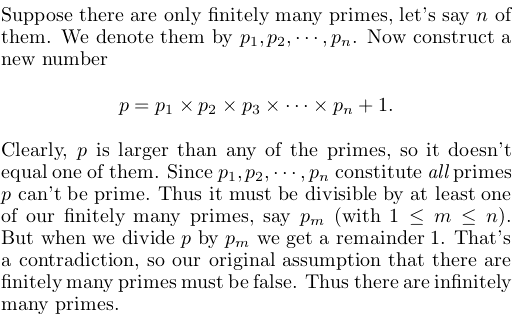 Why are there infinitely many prime numbers?