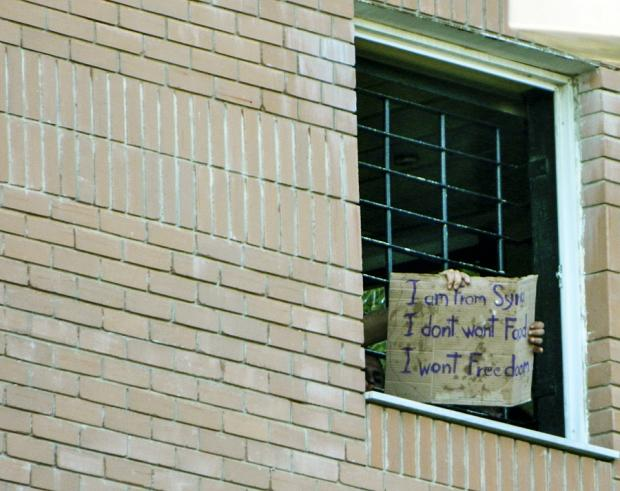 Migrants call for freedom from Greek detention centres: 'I ...