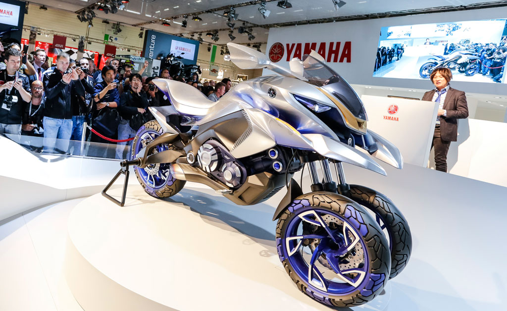 Yamaha unveils 01GEN three wheeler concept at Intermot 2014