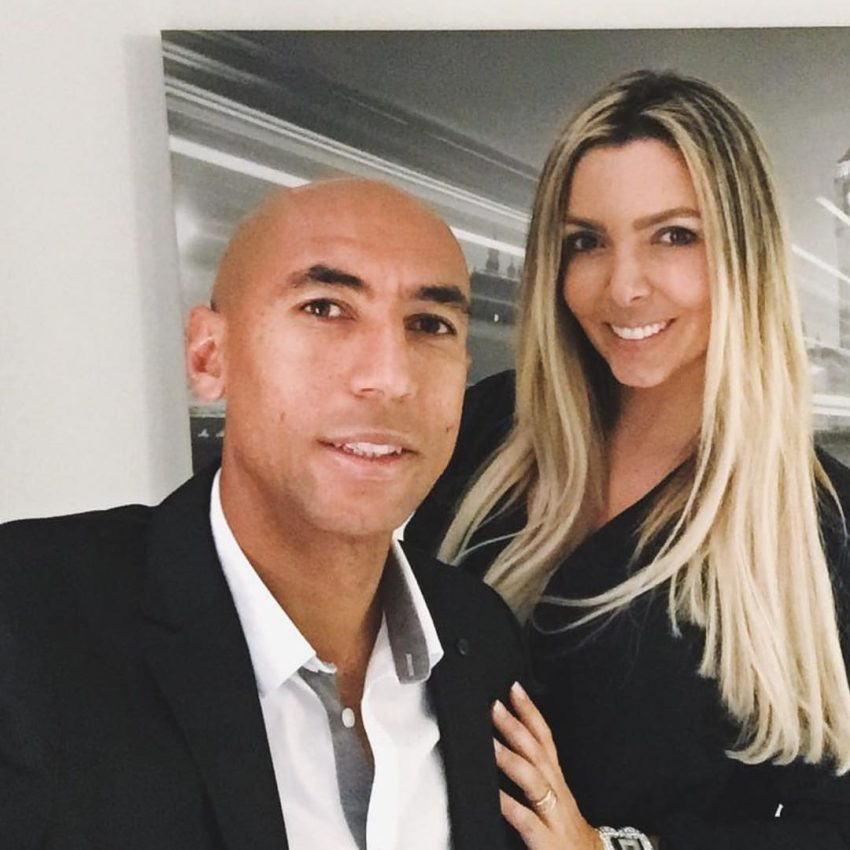 Luisão with hot, Wife Brenda Mattar