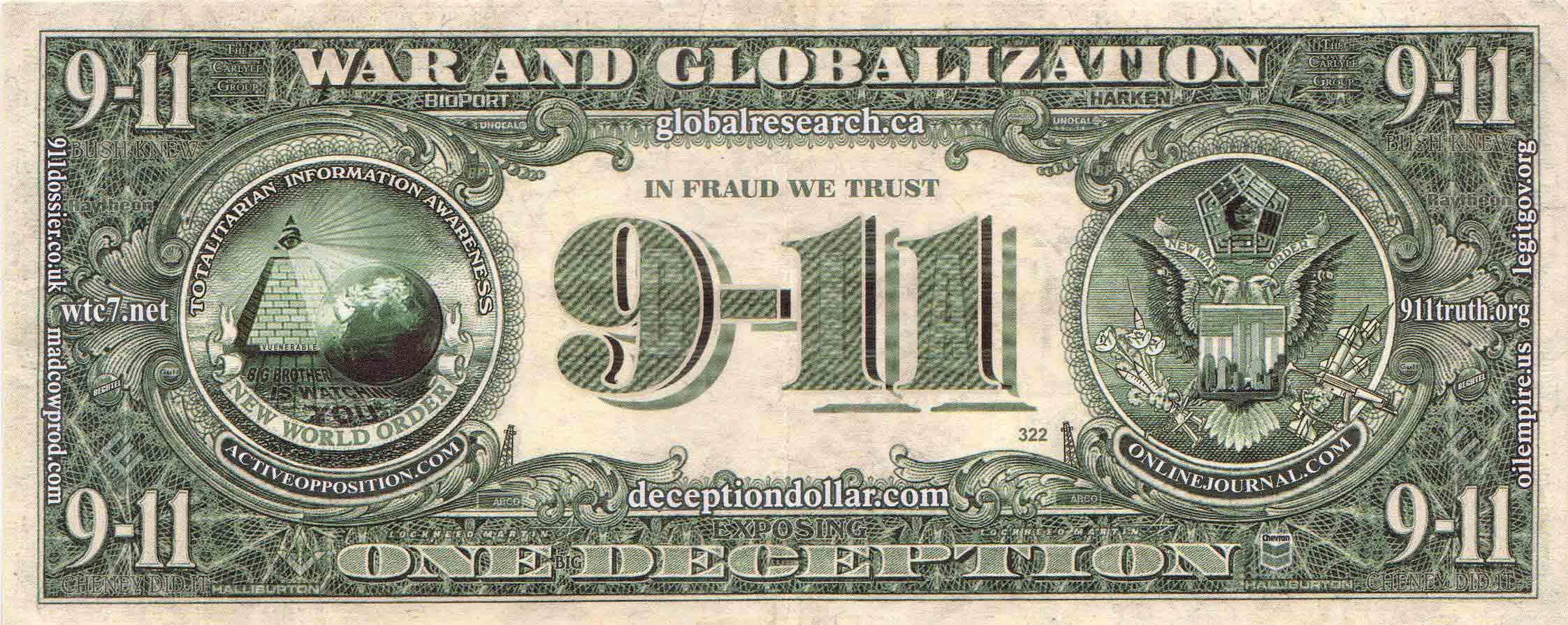 9-11 Conspiracy Dollar | MyConfinedSpace