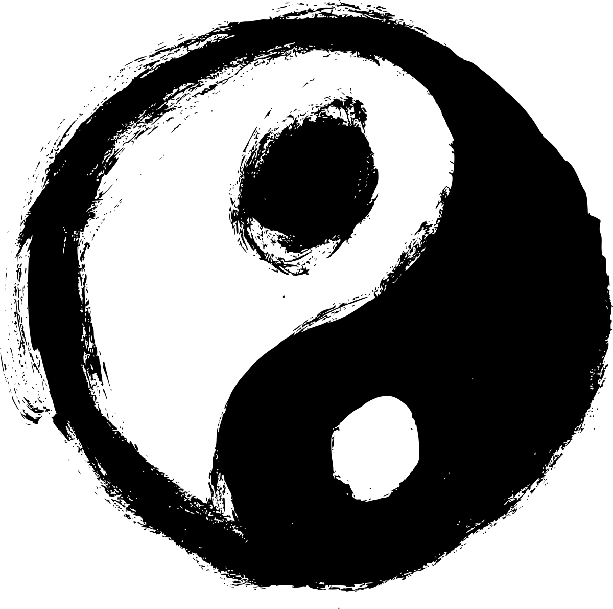 4 Grunge Yin Yang (PNG Transparent) | OnlyGFX.com