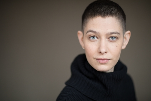 The 33-year old daughter of father (?) and mother(?), 170 cm tall Asia Kate Dillon in 2018 photo
