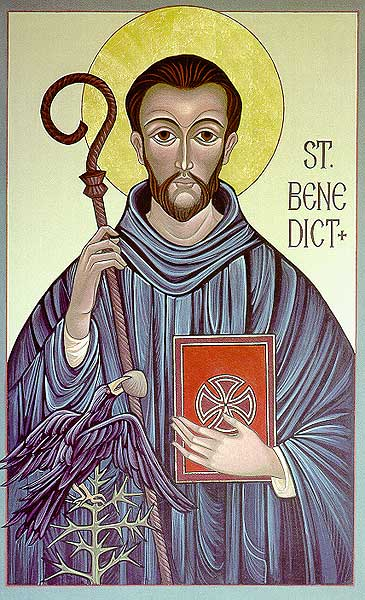 St. Benedict Icon (McGough): Icon Reproduction
