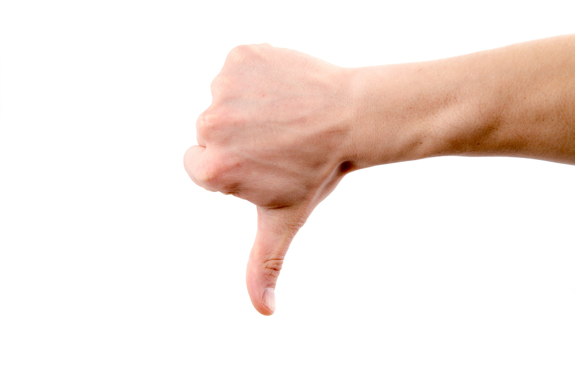 Hand With Thumb Down Free Stock Photo - Public Domain Pictures