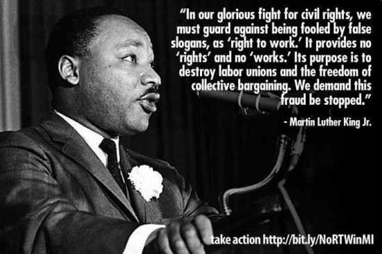 """Quotable: Martin Luther King on """"right to work"""" 