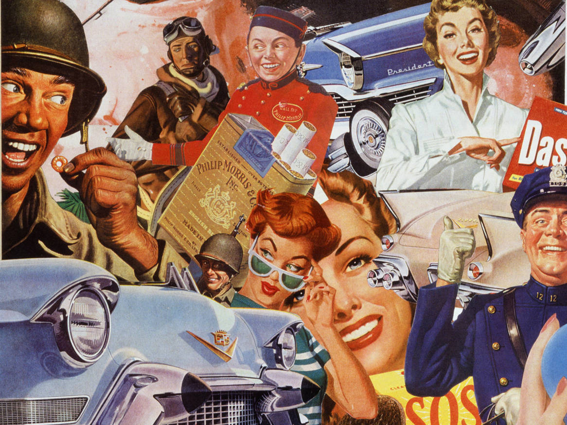 CONSUMER CULTURE | Sally Edelstein Collage | DEFROSTING THE COLD WAR