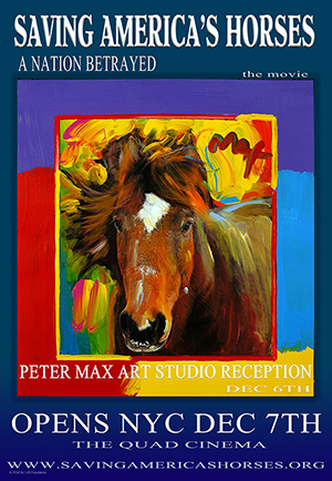 Peter Max Reception poster
