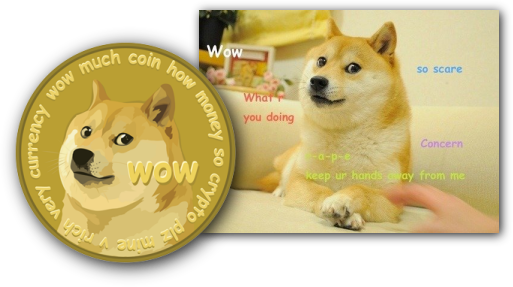 wow much coin how money so crypto plz mine v rich very ...