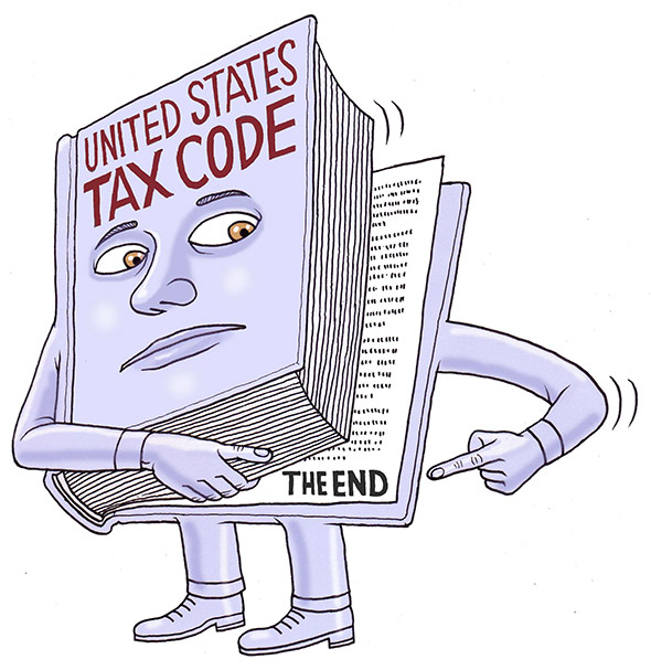 How long is the tax code: It is far shorter than 70,000 pages.