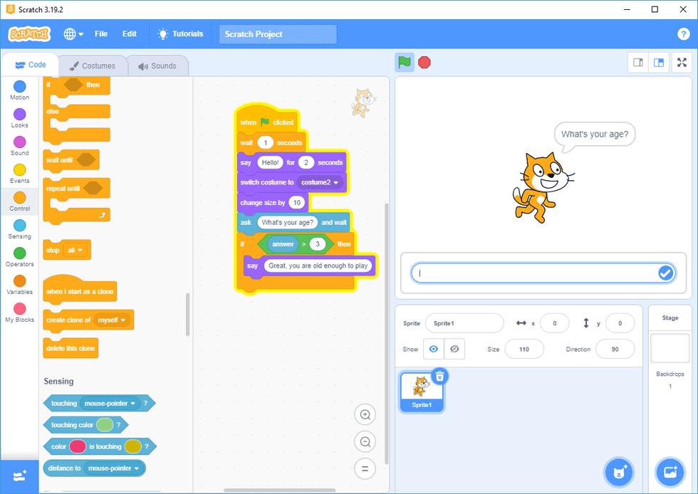 Scratch screenshot and download at SnapFiles.com