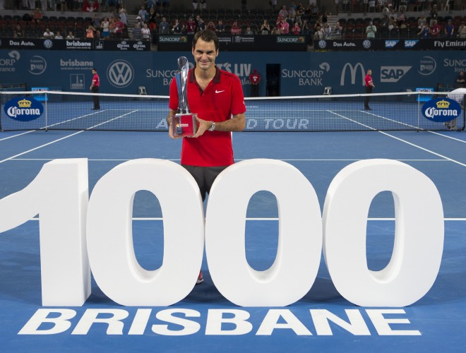 Federer24 Federer Wins Brisbane Title, Claims 1000th Match Win
