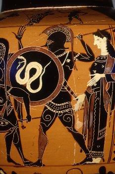 Ares (Ἄρης), de griekse god van oorlog en verwoesting, volgens de ...