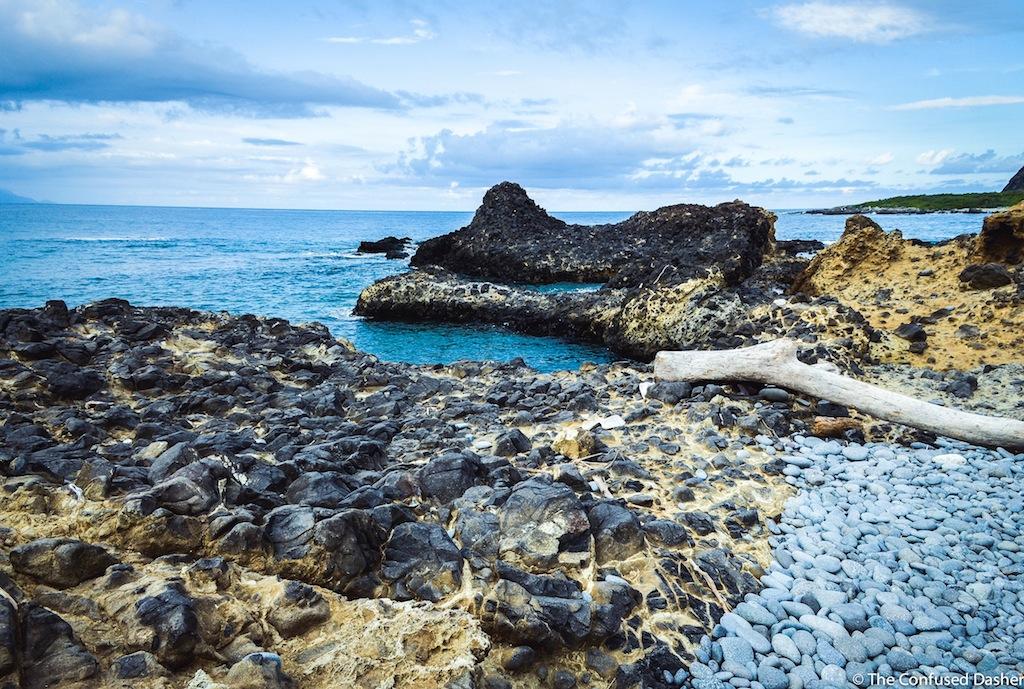 A rocky beach near Dulan