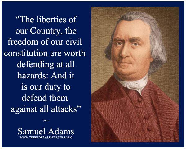 Samuel Adams, writing as Candidus, Essay in the Boston ...