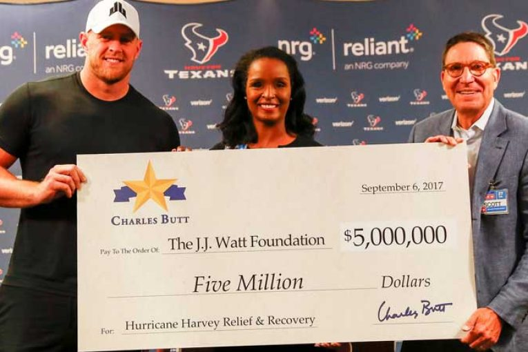 Charles Butt Donates $5 Million To J.J. Watt Foundation For Disaster Relief