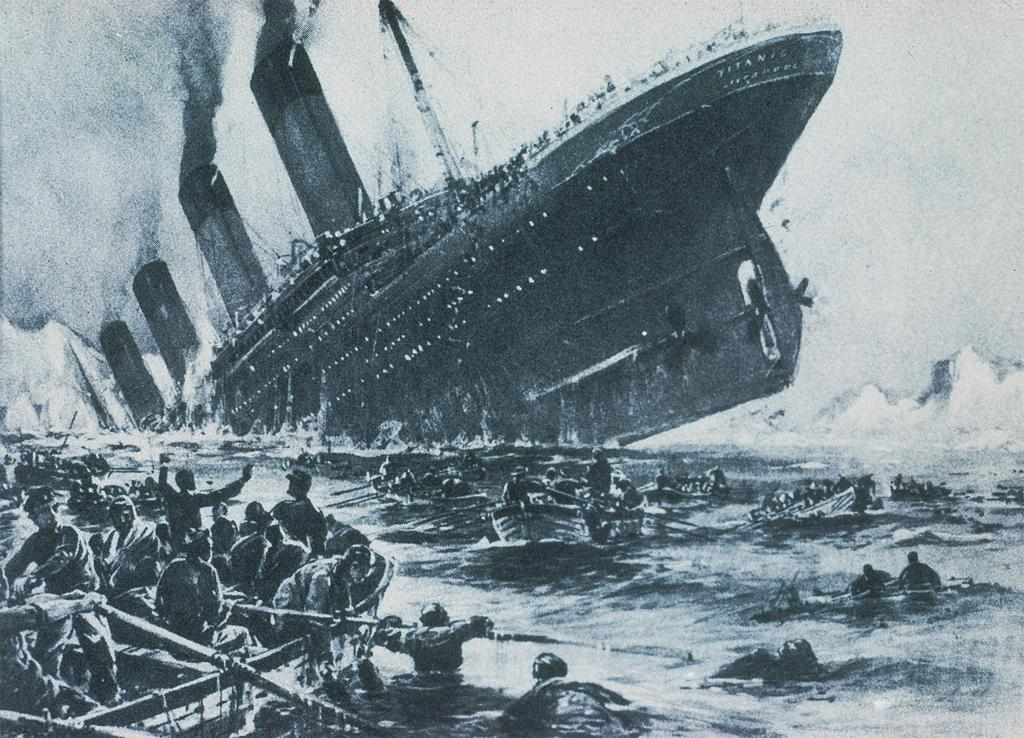 Titanic Sinking, the Sinking of the Titanic in 1912