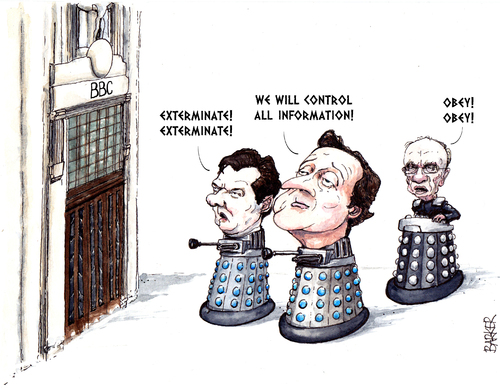Cartoon: Tories to Exterminate the BBC (medium) by barker tagged david ...