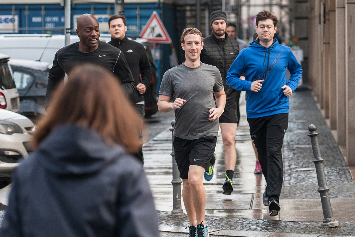 Mark Zuckerberg Is Flanked By 16 Bodyguards - TOTPI