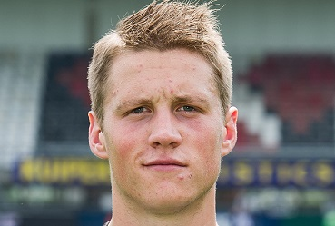 The 25-year old son of father (?) and mother(?), 197 cm tall Wout Weghorst in 2018 photo