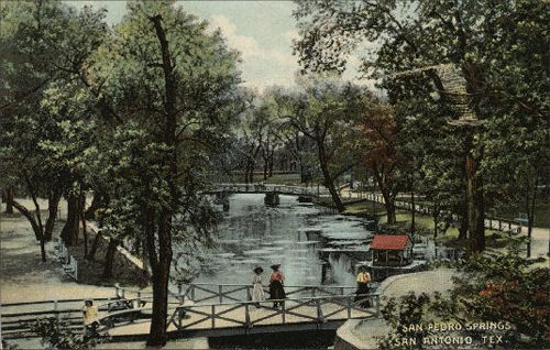Uncovered Texas Postcards | San Pedro Springs Park - 1912