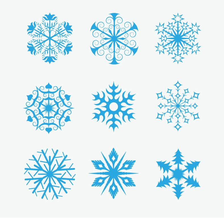 Snowflakes Icon Collection Vector | Free Vector Graphics ...