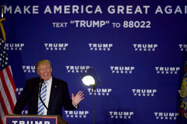 Donald Trump Photos Photos - Trump Holds Campaign Event in Gettysburg ...