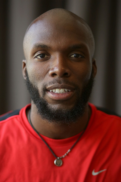 The 31-year old son of father (?) and mother(?), 188 cm tall Lashawn Merritt in 2017 photo
