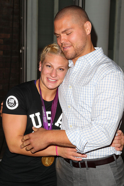 Family photo of the athlete, engaged to Aaron Handy, famous for Judo & Olympics.