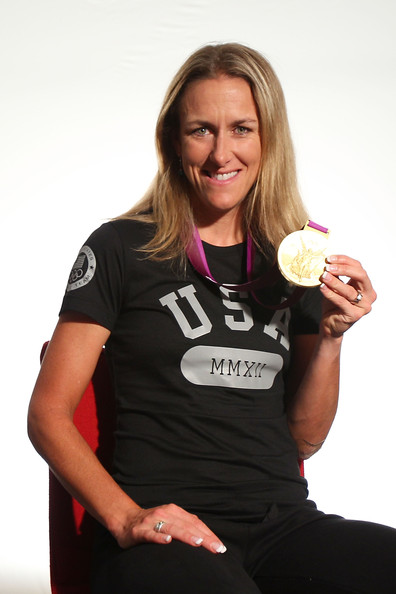 The 44-year old daughter of father (?) and mother(?), 173 cm tall Kristin Armstrong in 2018 photo