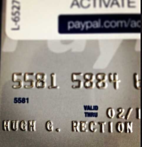 My credit card came in today!!! : funny