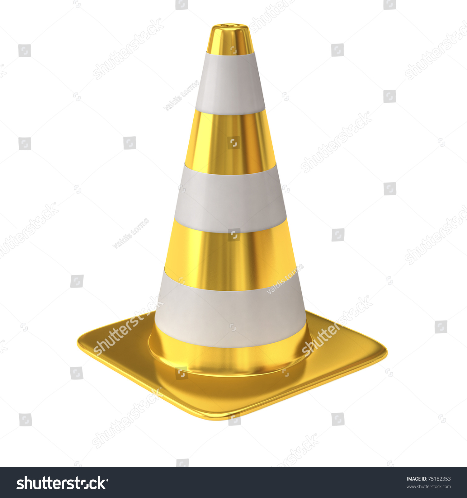 stock-photo--golden-traffic-cone-7518235