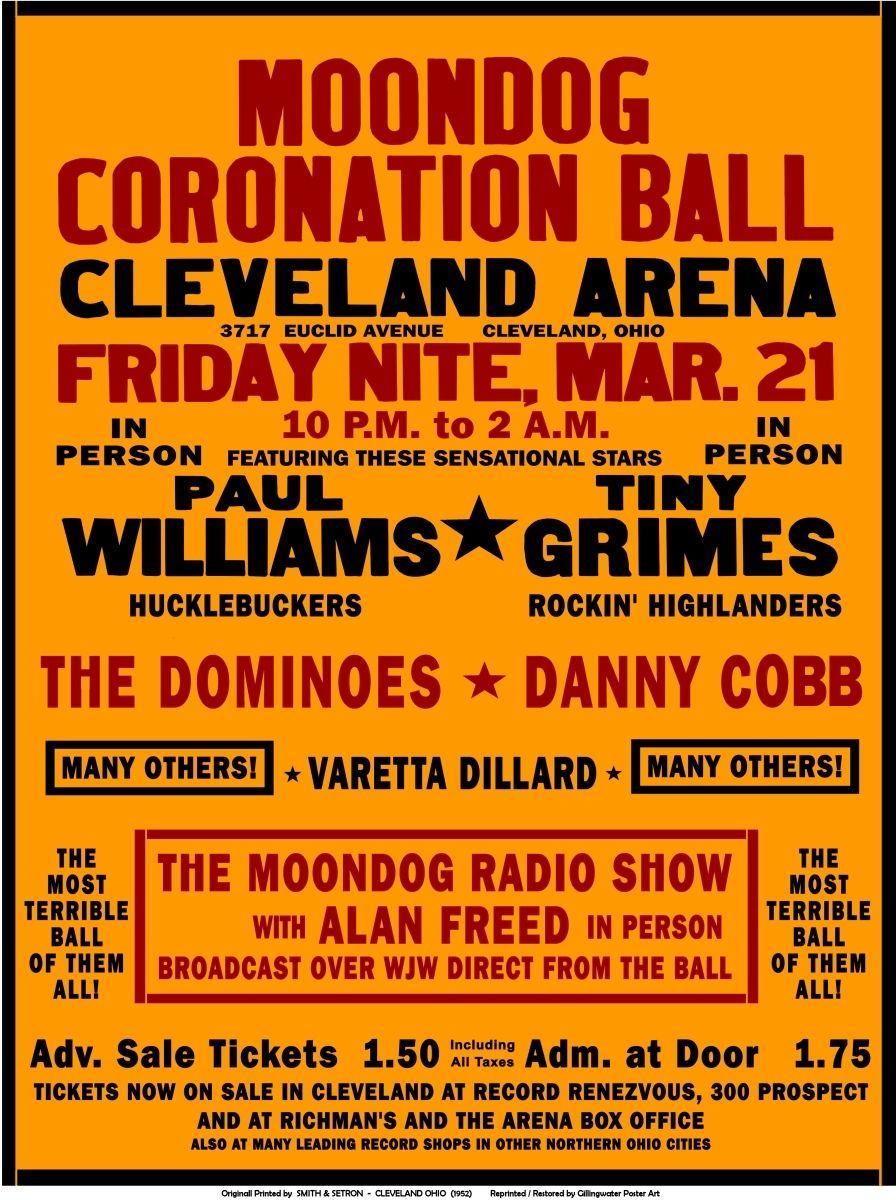 Stephen W. Terrell's (MUSIC) Web Log: THROWBACK THURSDAY: The Moondog Coronation Ball