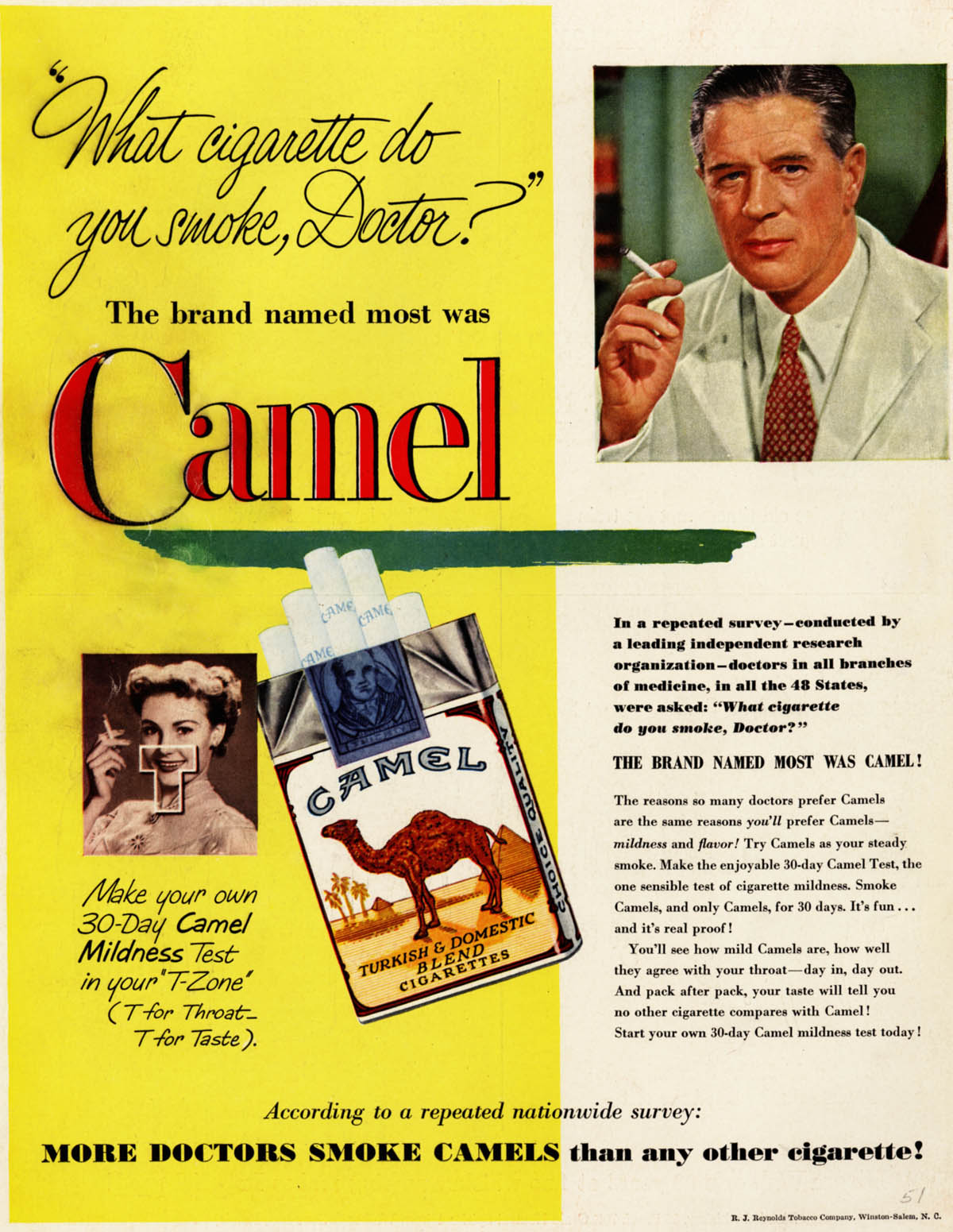 """30 Outrageous Vintage Cigarette Ads Claimed That """"More ..."""