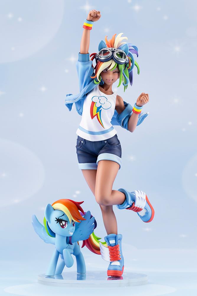 Kotobukiya Shows Final Rainbow Dash Statue Design + Applejack Concept | MLP Merch