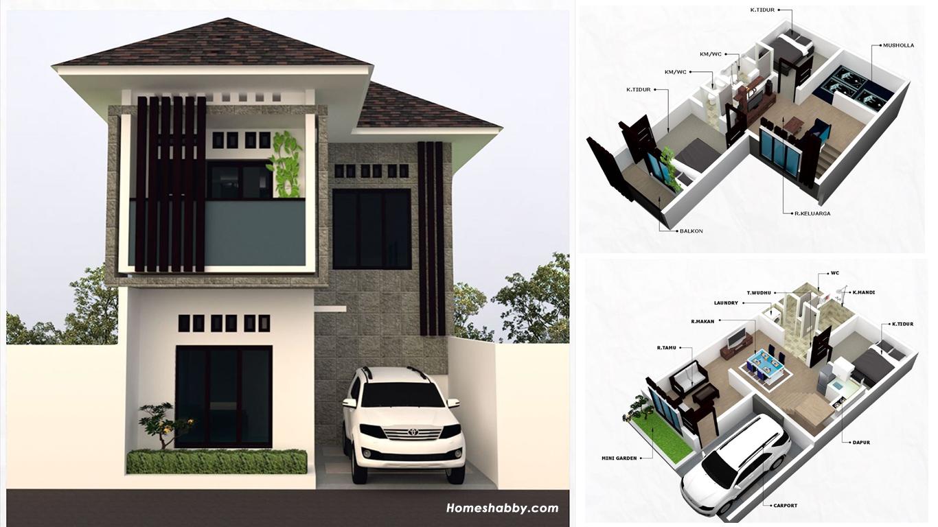 Desain dan Denah Rumah Minimalis 2 Lantai Bentuk Leter L ...