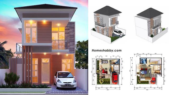 Desain dan Denah Rumah Minimalis Modern Lantai 2 Type 68 ...