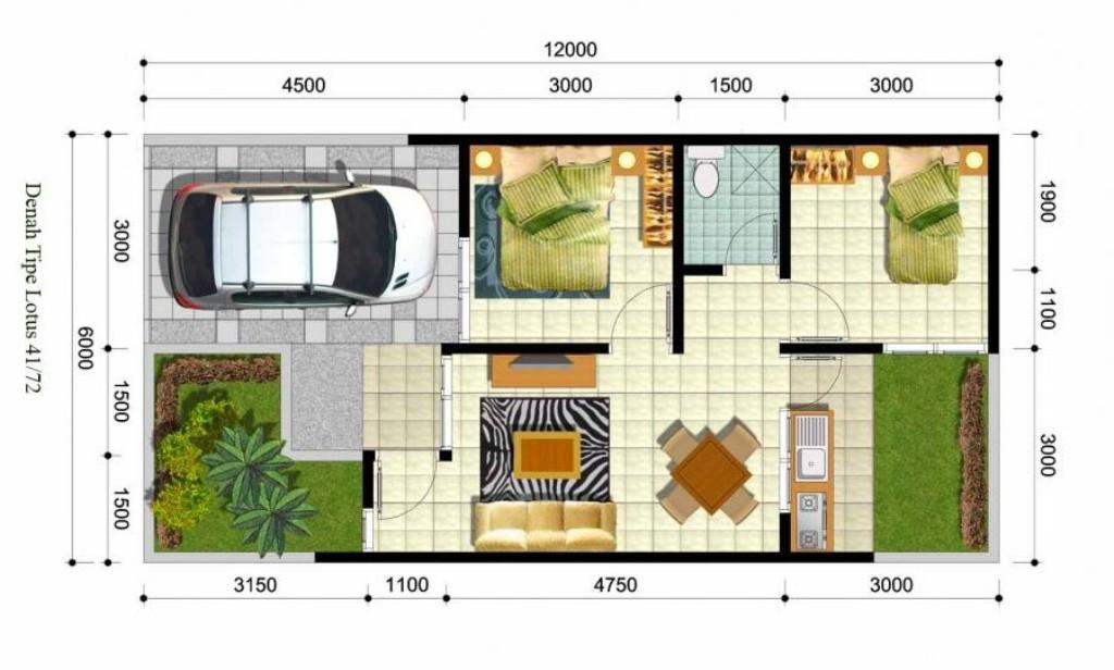 19+ Desain Rumah Minimalis 6x12 1 Lantai Paling Modern Dan ...