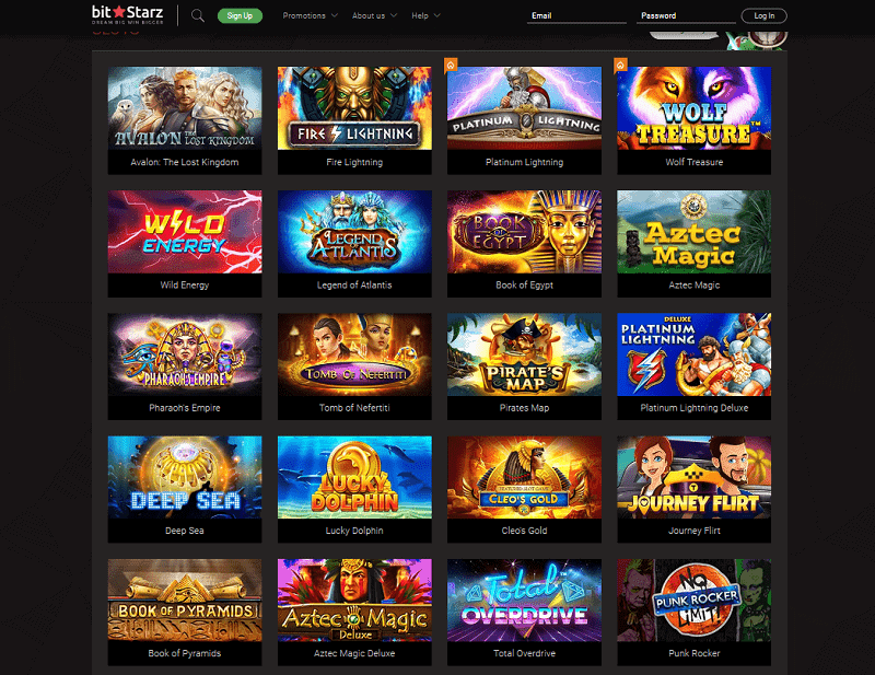 A huge selection of slots to play for real money at Bitstarz Casino