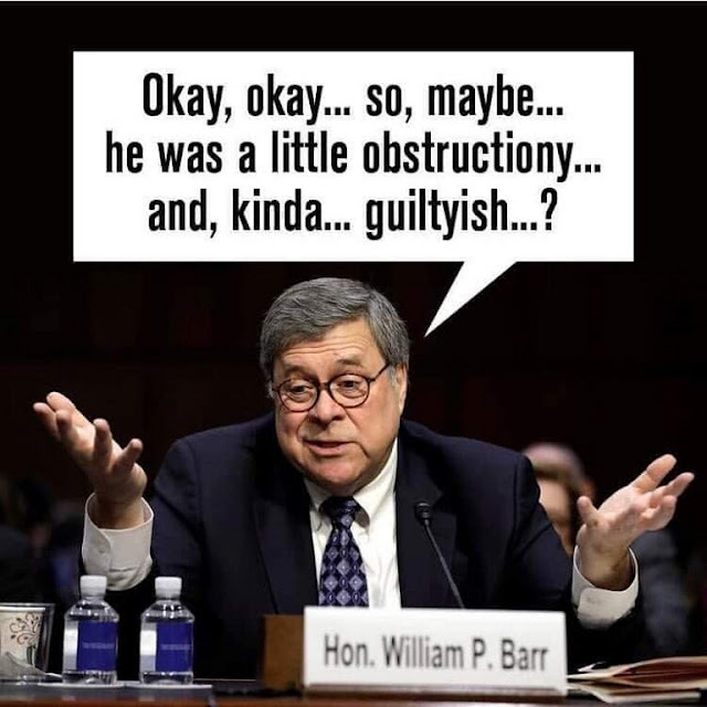 Acerbic Politics: Liberal political memes - William Barr testifies, Trump's swamp, and more
