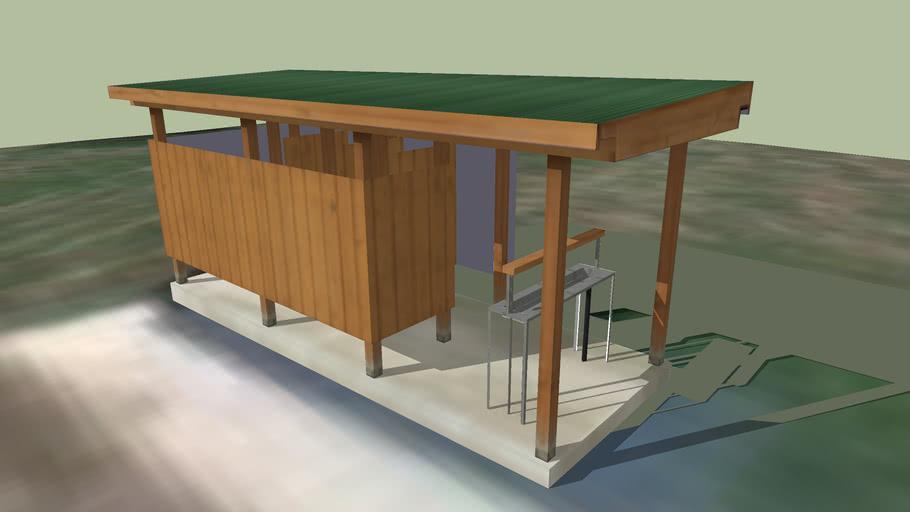 Red Cedar Campsite Latrine   3D Warehouse