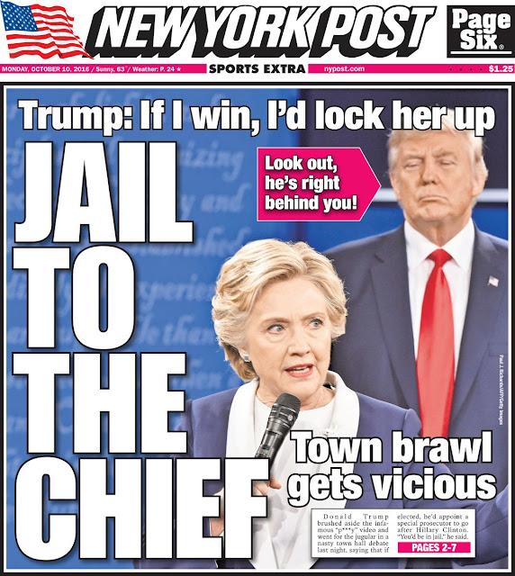"Donald Trump to Hillary Clinton: ""You'd be in jail"""