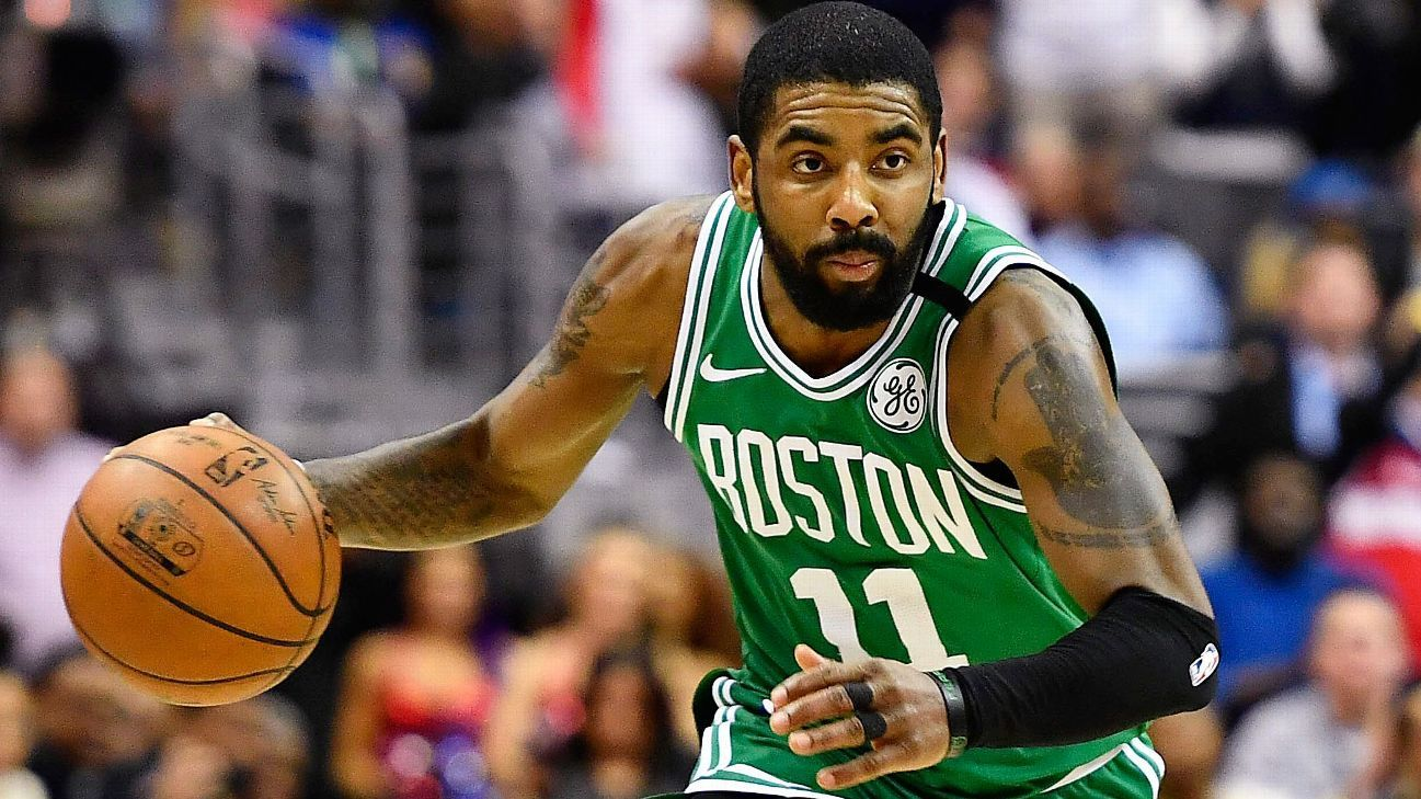 Kyrie Irving of Boston Celtics out for second half with ...