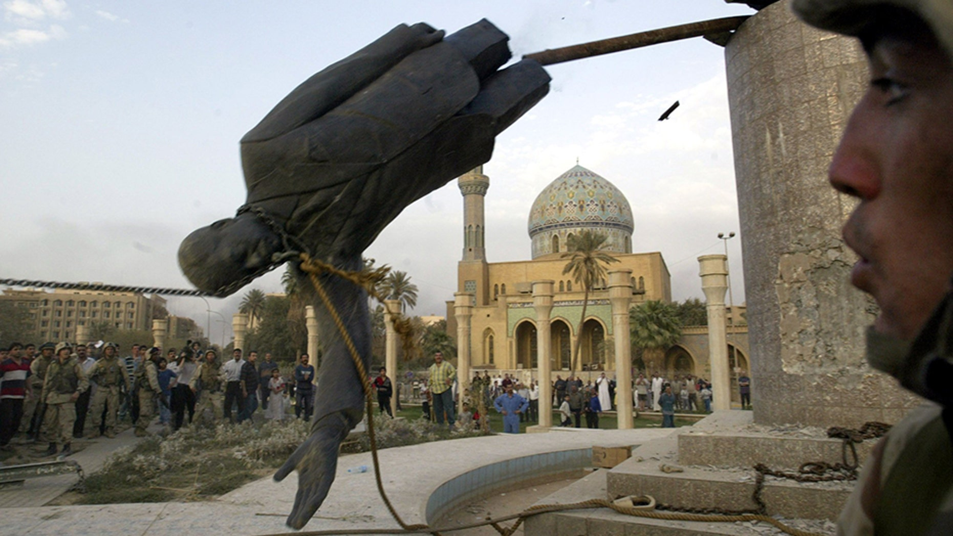 What happened to Saddam's hand? Marine vets seeking statue part they took 15 years ago | Fox News