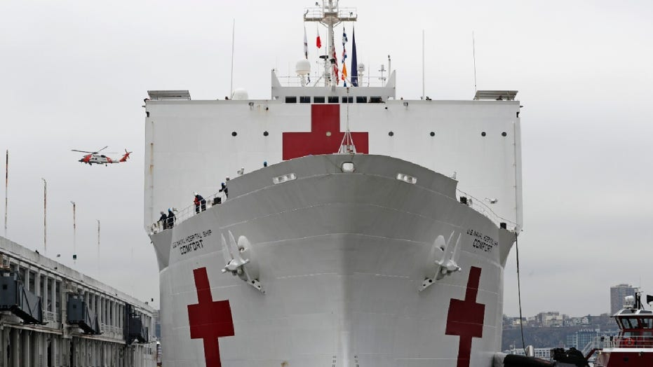 Coronavirus patients delivered to hospital ship Comfort in New York by mistake…