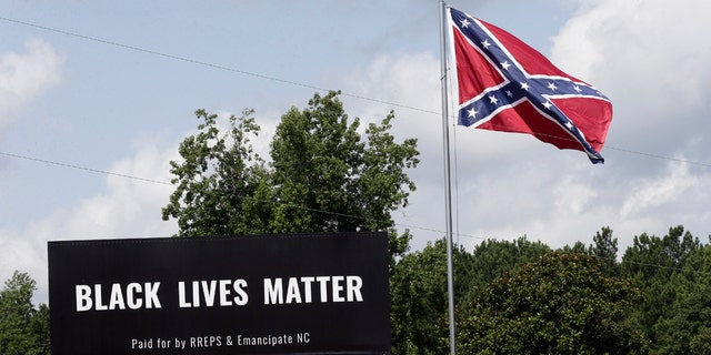 'Black Lives Matter' put on billboard beside Confederate ...