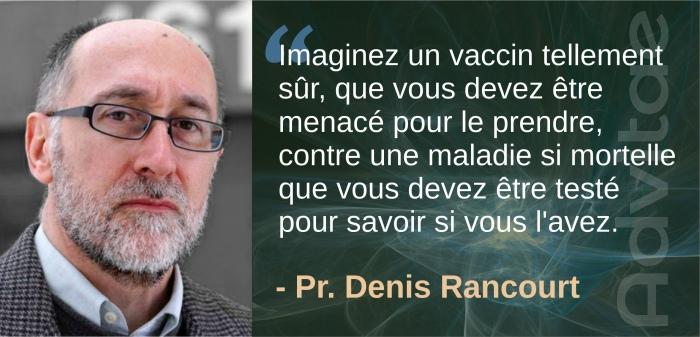 Imaginez un vaccin tellement sûr, qu'on doit vous menacer ...